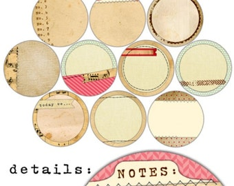 Elle's Studio Handmade Layers Two Inch Circle Tags