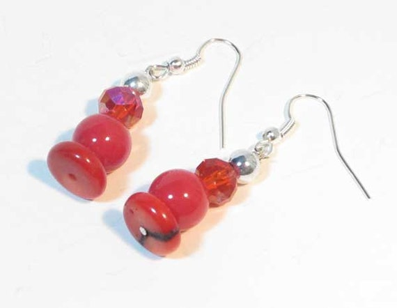 https://www.etsy.com/listing/174015839/red-round-gemstone-earrings-red-gemstone