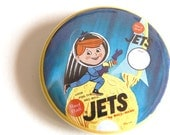 "Jets Retro Ad- 2.25"" Pinback Button"