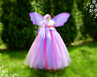 Custom Boutique DM Fairy Tutu Dress Wings You Choose Colors 2 3 4 5 6 Years