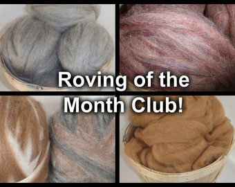Farm Fresh Roving of the Month Club - 4 oz., 3 Month Subscription