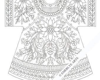 Printable Coloring Page - Chinese Coat