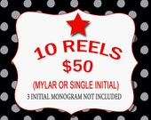 10 for 50 U Design Monogrammed ID Reels......Great for gift giving