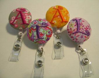 5 for 25.00 Personalized Retractable ID Badge Reels Monogrammed Name Badge Holder U PICK DESIGN Teacher Nurse Gift