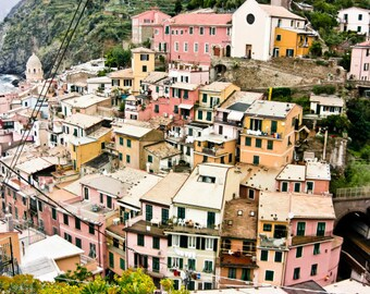 """Italy photograph colorful houses travel photography
