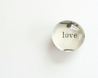 love - lyric from vintage sheet music - magnet