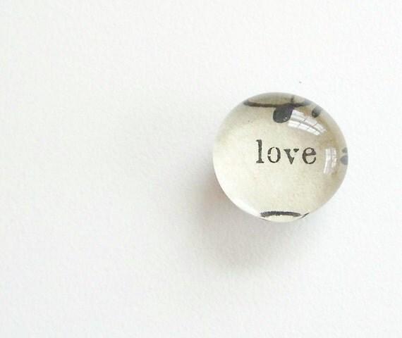 love - lyric from vintage sheet music - magnet