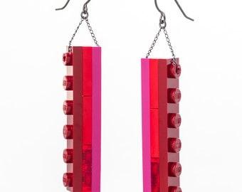 pomme tower dangle earrings