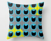 Cats Decorative throw pillow cover - Pattern pillow cover - Modern pillow cover