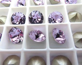 12 Violet Foiled Swarovski Crystal Chaton Stone 1088 39ss 8mm