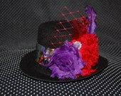 Disney Villians themed Mini Top Hat Fascinator photo prop headpiece pageant Halloween