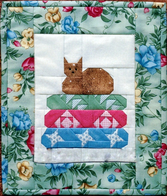 cat nap by mary herschleb miniature quilt mh designs. Black Bedroom Furniture Sets. Home Design Ideas