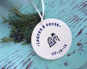 Ornament with Bride & Groom's Names and Wedding Date, Custom Ornament with Couple's Name and Date, Bride and Groom Personalized Ornament