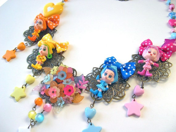 Wacky kawaii necklace colorful over the top ultimate lolita manga animé japan