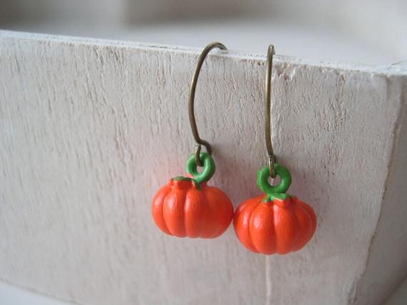 Lil' pumpkins earrings cute sweet kawaii Halloween