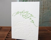 letterpress Betsy Dunlap calligraphy thank you map card