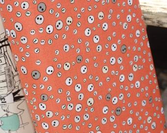 1 yard Zombie Eyes Orange Apocalypse Fabric from Riley Blake
