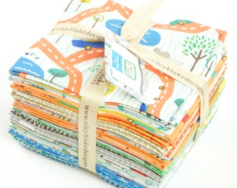 SALE 18 Fat Quarters SCENIC ROUTE for Riley Blake by Deena Rutter