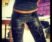 Custom Black n lace pants