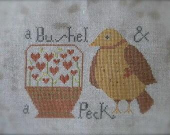 A Bushel and a Peck - Cross Stitch PATTERN - from Notforgotten Farm
