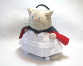 Cute nurse, Cat Pincushion, WW2 nurse decor, Nurse cat, Gift for nurses, Cute felt cat, Proud nurse, Cat lover gifts, Cat in cape, MTO