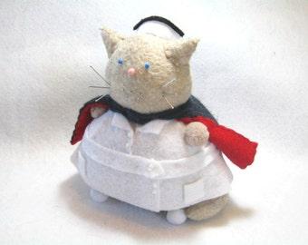 Cute nurse, Cat Pincushion, WW2 nurse decor, Nurse cat, Gift for nurses, Cute felt cat, Proud nurse, Cat lover gifts, Cat in cape, MTO