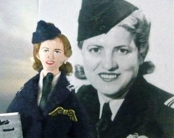 Jacqueline Cochran Doll Miniature World War ll Historical Art