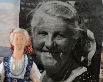 Maria Von Trapp Doll Historical Art Miniature