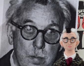 James Thurber Doll Miniature Author Witty Cartoon Writer