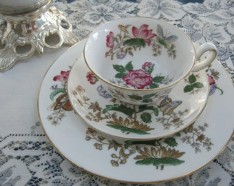 TEA - VINTAGE TRIO - Price Reduced!!  Wedgewood Charnwood Trio - Tea Cup, Saucer and Dessert Plate