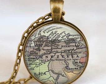 Venezuela map  necklace,  Venezuela map pendant ,  Venezuela glass dome pendant,map jewelry