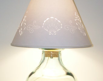 fill your own recycled glass lamp u0026 hand cut - Fillable Lamp