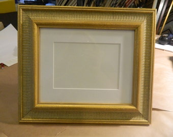 "Fancy Gold Frame 8 x 10"" with matting for 5 x 7"""