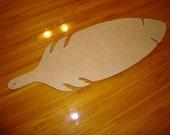 Unfinished Feather Mdf Wood Mosaic Base/Craft Shape