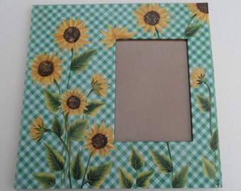 Painted Sunflower Picture Frame Painted Sunflowers Picture Frame