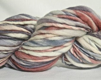 Handspun Yarn - Bulky Merino Thick and Thin - 80 yards