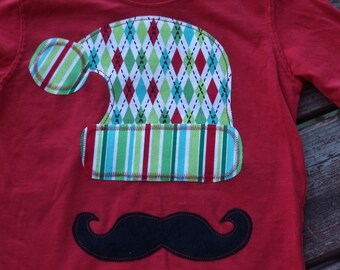 "Boys Custom winter hat mustache ""Whimsical Trees""  Tee sz 6-12-18-24 mth 2T 3-4-5-6 in assorted colors and fabrics"