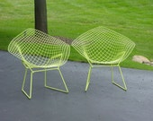 Two Harry Bertoia MCM Diamond Back Chairs   REDUCED