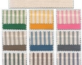Vintage Inspired Woven Cotton Ticking Material - 1/2 Yard - You Chose The Color