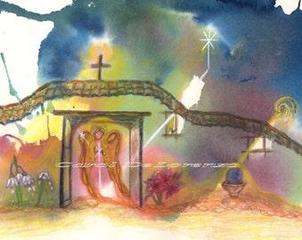 Watercolor Painting Angel Art, Angel Painting, Watercolor Angel, Spiritual Art, Print Of Original Watercolor Titled The Gateway