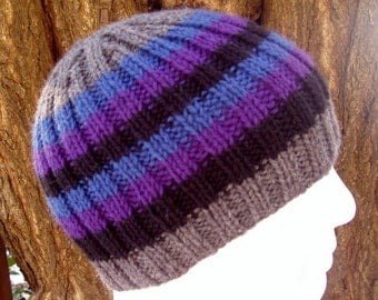 Beanie Knitting Pattern Straight Needles : Popular items for beanie knit pattern on Etsy