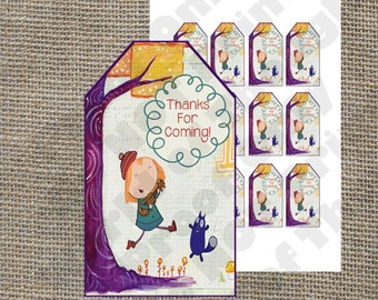 Peg + Cat Birthday Party Goody Bag Label Tags - PBS Kids Theme - Matching Invitations and Other Items Available!
