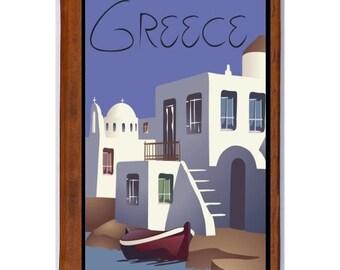 GREECE 4- Handmade Leather Photo Album - Travel Art