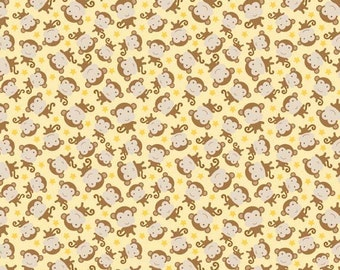 50% OFF Snips and Snails Monkey Yellow - 1/2 Yard