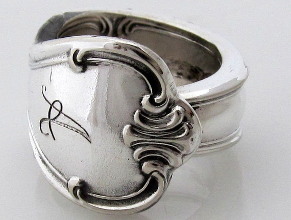 Signature Spoon Ring Size 5  Letter A Monogram