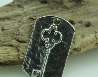Large Key Tag in Sterling Silver