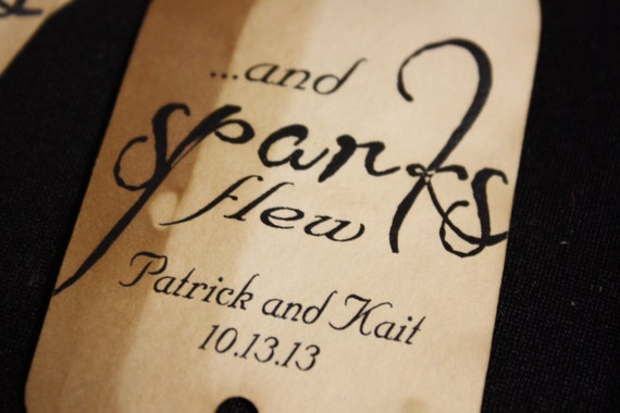 And Sparks Flew 150 Personalized Sparkler Farewell Tags
