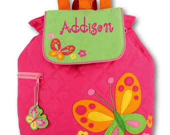 Girls Backpack Personalized Butterfly Stephen Joseph Quilted Preschool Toddler