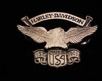 vintage harley davidson pin. EAGLE with banner FANTASTIC