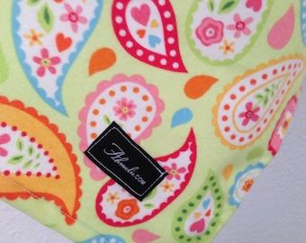 Riley Blake Paisley Baby Blanket Flannel Swaddler